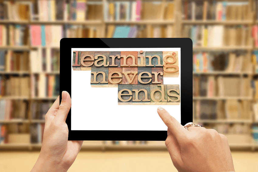 Fotolia_73659548_S_Learning_Never_Ends_Tablet
